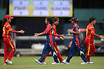 Players of Nepal and China shake hands after their ICC 2016 Women's World Cup Asia Qualifier match between China and Nepal on 11 October 2016 at the Kowloon Cricket Club in Hong Kong, China. Photo by Marcio Machado / Power Sport Images