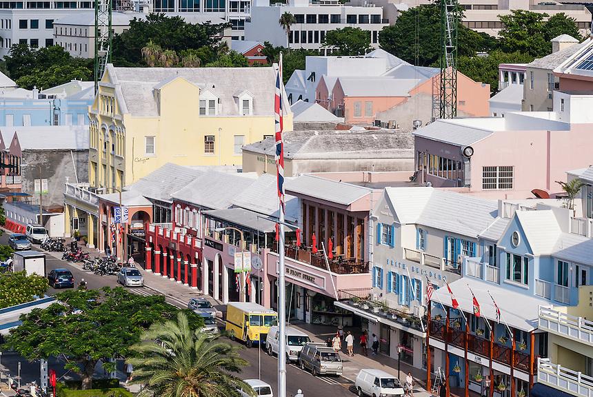 Shops along Front Street, Hamilton, Bermuda