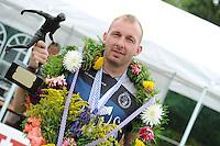 KAATSEN: BOLSWARD: 12-07-2015, Johan van der Meulen (koning), Hylke Bruinsma en Hendrik Kootstra winnen, ©foto Martin de Jong