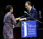 Lea Salonga and Harry Hadden-Paton during the 74th Annual Theatre World Awards at Circle in the Square on June 4, 2018 in New York City.