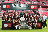 Arsenal win the Community Shield and Alexis Sanchez joins in the celebrations during Arsenal vs Chelsea, FA Community Shield Football at Wembley Stadium on 6th August 2017