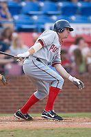 Darryl Lawhorn (16) of the Potomac Nationals follows through on his swing at Ernie Shore Field in Winston-Salem, NC, Saturday August 9, 2008. (Photo by Brian Westerholt / Four Seam Images)