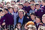 Moyvane author, Gabriel Fitzmaurice had the honours of opening the library at Gaeilscoil Faithleann in Killarney on Friday last.