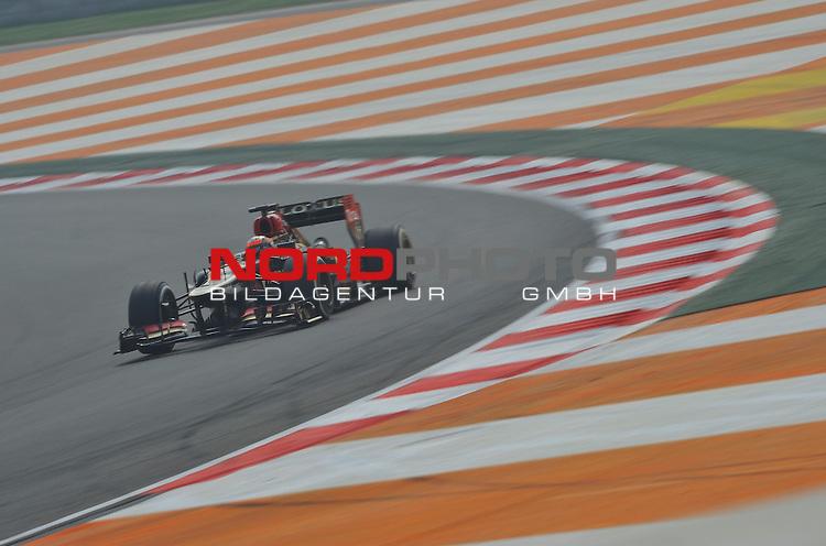 25.-27-10-2013, Jaypee-Circuit, Noida, IND, F1, Grosser Preis von Indien, Noida, im Bild Kimi Raikkonen (FIN), Lotus Renault F1 Team <br />  Foto &copy; nph / Mathis
