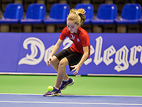December 189 2014, Rotterdam, Topsport Centrum, Lotto NK Tennis, Lady's quarter final, ballgirl<br /> Photo: Tennisimages/Henk Koster