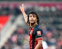 Nathan Ake of AFC Bournemouth during AFC Bournemouth vs Wolverhampton Wanderers, Premier League Football at the Vitality Stadium on 23rd February 2019