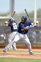 Milwaukee Brewers first baseman David Denson (8) during an Instructional League game against the Cincinnati Reds on October 6, 2014 at Maryvale Baseball Park Training Complex in Phoenix, Arizona.  (Mike Janes/Four Seam Images)