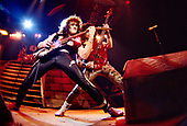 DIO - guitarist Vivian Campbell and bassist Jimmy Bain - performing live in 1984.  Photo credit: PG Brunelli/IconicPix