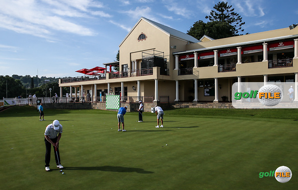 View of the putting green and clubhouse during the preview days of the 2016 Tshwane Open, played at the Pretoria Country Club, Waterkloof, Pretoria, South Africa.  09/02/2016. Picture: Golffile | David Lloyd<br /> <br /> All photos usage must carry mandatory copyright credit (&copy; Golffile | David Lloyd)