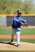 Texas Rangers pitcher Demarcus Evans (71) during an Instructional League game against the Kansas City Royals on October 4, 2016 at the Surprise Stadium Complex in Surprise, Arizona.  (Mike Janes/Four Seam Images)