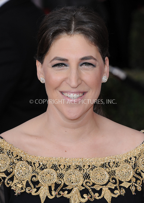 WWW.ACEPIXS.COM<br /> <br /> January 30 2016, LA<br /> <br /> Mayim Bialik arriving at the 22nd Annual Screen Actors Guild Awards at the Shrine Auditorium on January 30, 2016 in Los Angeles, California<br /> <br /> By Line: Peter West/ACE Pictures<br /> <br /> <br /> ACE Pictures, Inc.<br /> tel: 646 769 0430<br /> Email: info@acepixs.com<br /> www.acepixs.com