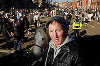 The Smithfield horse market, Dublin, Ireland by James Horan.The monthly Smithfield Horse market is one of Dublin's oldest traditions. It is a place where kids from deprived areas of the city buy and sell horses. In recent years the Smithfield area has been redeveloped which creates a striking contrast to the horsemarket, The introduction of The Control of Horses Act has effectively outlawed these kids, and the closure of the market is a real possibility.
