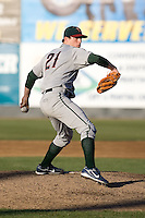 June 25, 2008: The Boise Hawks' James Leverton toes the rubber against the Everett AquaSox during a Northwest League game at Everett Memorial Stadium in Everett, Washington.