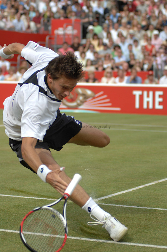 Photo: Catrine Gapper..The Artois Championships 2007. 17/06/2007..Nicolas Mahut faces Andy Roddick in The Artois Championships final.