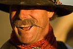 Cowboy Steve Marriot smiles at the Minden Ranch Rodeo at the Douglas County Fairgrounds, Gardnerville, Nevada.
