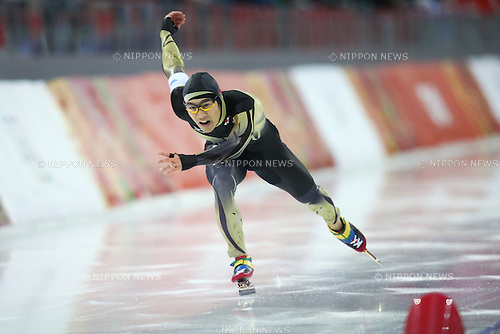 Joji Kato (JPN),<br /> FEBRUARY 10, 2014 - Speed Skating : <br /> Men's 500m <br /> at &quot;ADLER ARENA&quot; Speed Skating Center <br /> during the Sochi 2014 Olympic Winter Games in Sochi, Russia. <br /> (Photo by Koji Aoki/AFLO SPORT) [0008]