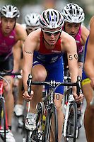 09 JUL 2011 - PARIS, FRA - Tom Bishop (Rouen Triathlon) - men's French Grand Prix series race (PHOTO (C) NIGEL FARROW)