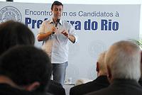 RIO DE JANEIRO, RJ 03 DE AGOSTO 2012 - ELEIÇÕES 2012 DE CANDIDATOS A PREFEITO DA PREFEITURA DO RIO - Nesta manhã de sexta feira 03 de agosto, o candidato a prefeitura do Rio Marcelo Freixo (PSOL) durante palestra no auditório da Associação Comercial do Rio de Janeiro situado no centro da cidade. FOTO RONALDO BRANDAO/BRAZIL PHOTO PRESS