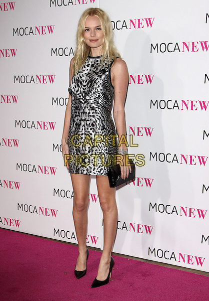 KATE BOSWORTH .At MOCA's 30th Anniversary Gala held at MOCA, Los Angeles, California, USA, 14th November 2009. .full length sleeveless grey gray silver print black clutch bag shoes .CAP/ADM/KB.©Kevan Brooks/AdMedia/Capital Pictures.