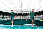 Mcc0038137 . Daily Telegraph..Wimbledon Day 4..Wet weather halts play on Centre Court at Wimbledon 2012...27 June 2012