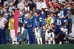 1985-Nov<br /> <br /> Coach LaVell Edwards with 6 Robbie Bosco.<br /> <br /> November 1985<br /> <br /> Photo by: Mark Philbrick/BYU<br /> <br /> Copyright BYU PHOTO 2009<br /> All Rights Reserved<br /> 801-422-7322<br /> photo@byu.edu