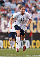 22 MAY 2010:  USA's Abby Wambach #20 during the International Friendly soccer match between Germany WNT vs USA WNT at Cleveland Browns Stadium in Cleveland, Ohio. USA defeated Germany 4-0 on May 22, 2010.