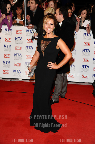 Heidi Range arriving for the National Television Awards 2011, at the O2, London. 26/01/2011  Picture By: Steve Vas / Featureflash