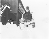 RGS 4-6-0 #22 at coaling pockets in Rico.<br /> RGS  Rico, CO