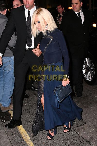 LONDON, ENGLAND - OCT 31: Donatella Versace at Harper's Bazaar annual Women of the Year Awards, which celebrates female high-fliers, at Claridge's on October 31st, 2016 in London, England.<br /> CAP/JOR<br /> &copy;JOR/Capital Pictures