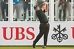 Patrick Reed of USA tees off the first hole during the 58th UBS Hong Kong Golf Open as part of the European Tour on 10 December 2016, at the Hong Kong Golf Club, Fanling, Hong Kong, China. Photo by Marcio Rodrigo Machado / Power Sport Images