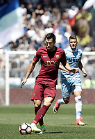 Calcio, Serie A: Roma, stadio Olimpico, 30 aprile 2017.<br /> AS Roma Kevin Strootman in action during the Italian Serie A football match between AS Roma an Lazio at Rome's Olympic stadium, April 30 2017.<br /> UPDATE IMAGES PRESS/Isabella Bonotto