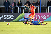 5th November 2017, Damson Park, Solihull, England; FA Cup first round, Solihull Moors versus Wycombe Wanderers; Ashley Sammons of Solihull Moors goes in for a tackle on Craig Mackail-Smith of Wycombe Wanderers