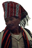 Mambunong presiding over a canao. Natubleng, Benguet. July, 1999