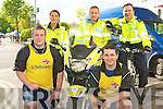 CHARITY CYCLE: Member's of Tralee Gardai? who took part in the RNLI Cycle outside the Brandon Hotel on Saturday front l-r: Garda's Paul Howard and T J Relihan. Back l-r: Garda's Emma Mullane, martin Tierney and Dave Rath.