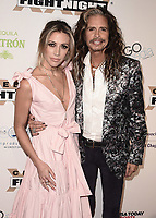 PHOENIX, AZ - MARCH 10:  Steven Tyler and Aimee Preston at Muhammad Ali's Celebrity Fight Night XXIV at the JW Marriott Desert Ridge Resort & Spa on March 10, 2018 in Phoenix, Arizona. (Photo by Scott Kirkland/PictureGroup)