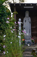 Buddhist statue outside the Daishinbo lodging house, Dewa Sanzan, Tsuruoka-city, Yamagata Prefecture, Japan, October 18, 2012.