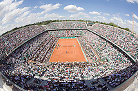 28-5-08, France,Paris, Tennis, Roland Garros,  Overall view Court Philip Chatrier Centercourt