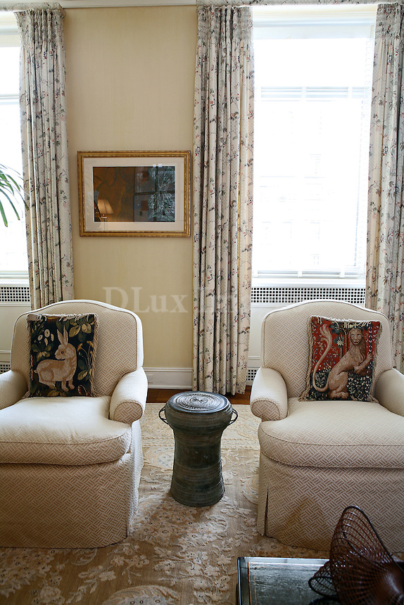 Suzanne Cochran , collector and trustee of an American art museum , decorated with a classic taste her house on a corner of  Park Avenue with spectacular views of downtown Manhattan. Masterpieces of contemporary art and rare furniture are mixed together with a unique style.