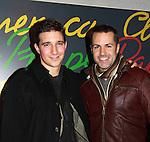 "As The World Turns Jake Silbermann poses with The Young and the Restless John Driscoll (and Guiding Light) on Opening Night on December 2, 2011 - New York, NY – The Camisade Theatre Company proudly presents their inaugural theatrical production, the World Premiere of ""Derby Day"" starring Jake Silbermann (ATWT), Malcolm Madera (AMC & GL), Jared Culverhouse and Beth Wittig. Derby Day runs from November 30 to December 17, 2011 in a limited engagement at The Clurman Theatre, located in the Theatre Row Complex at 410 West 42nd Street between 9th and 10th Avenues in New York City, New York. Camisade Theatre Company is founded by Jake Silbermann, Malcolm Madera and Samuel Brett Williams. (Photo by Sue Coflin/Max Photos)"