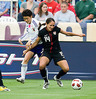 Stephanie Cox, Yukari King. The USWNT defeated Japan, 2-0,  at WakeMed Soccer Park in Cary, NC.