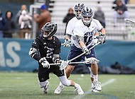 Washington, DC - April 7, 2018: Providence Friars Ryan Nawrocki (27) attempts a shot during game between Providence and Georgetown at  Cooper Field in Washington, DC.   (Photo by Elliott Brown/Media Images International)