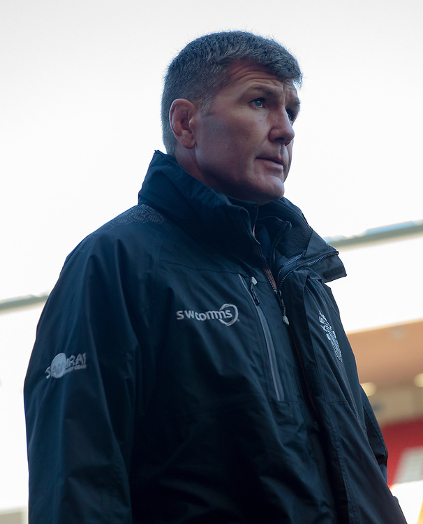 Exeter Chiefs' Head Coach Rob Baxter arrives at the ground<br /> <br /> Photographer Bob Bradford/CameraSport<br /> <br /> Gallagher Premiership Round 7 - Bristol Bears v Exeter Chiefs - Sunday 18th November 2018 - Ashton Gate - Bristol<br /> <br /> World Copyright © 2018 CameraSport. All rights reserved. 43 Linden Ave. Countesthorpe. Leicester. England. LE8 5PG - Tel: +44 (0) 116 277 4147 - admin@camerasport.com - www.camerasport.com