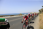The peloton including Nacer Bouhanni (FRA) Cofidis in full flight after the start of Stage 4 of the La Vuelta 2018, running 162km from Velez-Malaga to Alfacar, Sierra de la Alfaguara, Andalucia, Spain. 28th August 2018.<br /> Picture: Eoin Clarke   Cyclefile<br /> <br /> <br /> All photos usage must carry mandatory copyright credit (&copy; Cyclefile   Eoin Clarke)