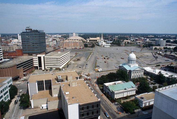 1996 September 24..Redevelopment..Macarthur Center.Downtown North (R-8)..PROGRESS.LOOKING NORTH .FROM MAIN STREET TOWER...NEG#.NRHA#..