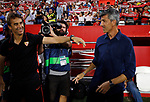 Sevilla FC's coach Julen Lopetegui and Real Sociedad's coach Imanol Alguacil during La Liga match. Sep 29, 2019. (ALTERPHOTOS/Manu R.B.)