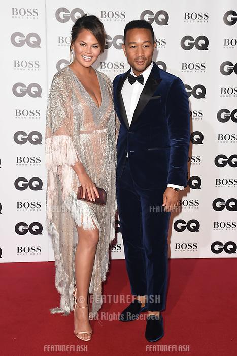 LONDON, UK. September 05, 2018: Chrissie Teigan & John Legend at the GQ Men of the Year Awards 2018 at the Tate Modern, London