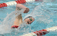 Gwynedd Mercy Academy's Stephanie Szekely competes in the Girls 200 Freestyle during the Athletic Association of Catholic Academies Swim Championships Sunday February 14, 2016 at Upper Dublin High School in Upper Dublin, Pennsylvania. She finished 2nd with a time of 1:55.37. (Photo by William Thomas Cain)