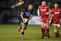 Jonathan Joseph of Bath Rugby in possession. European Rugby Champions Cup match, between Bath Rugby and the Scarlets on January 12, 2018 at the Recreation Ground in Bath, England. Photo by: Patrick Khachfe / Onside Images