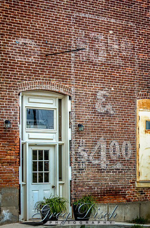 Ghost mural in historic downtown in the Route 66 town of Elkhart Illinois.