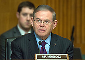 United States Senator Robert Menendez (Democrat of New Jersey) listens as David J. Kautter, Acting Commissioner, Internal Revenue Service (IRS) and Assistant US Secretary of the Treasury for Tax Policy testifies before the US Senate Committee on Finance on the President's Fiscal Year 2019 budget on Capitol Hill in Washington, DC on Wednesday, February 14, 2018.<br /> Credit: Ron Sachs / CNP